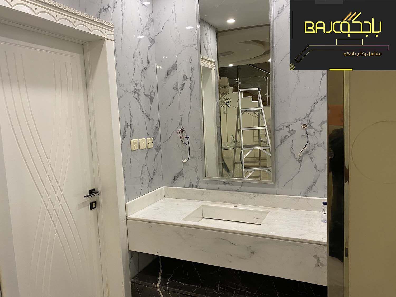 مغاسل رخام تفصيل بالرياض 2020 Framed Bathroom Mirror Bathroom Mirror Mirror