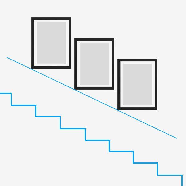 Treppenhaus Gestalten Mit Bilderrahmen Von Photolini