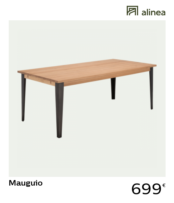 Alinea Decoration Mauguio Table De Repas Extensible En Chene 6 A 10 Personnes Sans Allonge Table Repas Table En Chene Table Extensible