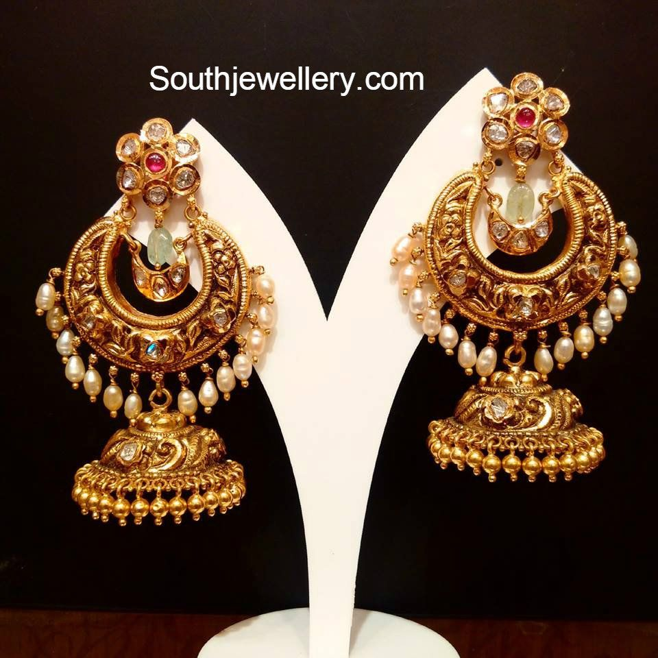 nakshi_chandbali_style_jhumkas.jpg 960×960 pixels | Earrings ...