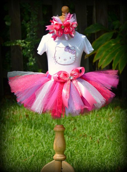 Bling Pretty Hello Kitty baby or toddler tutu by ilovefancyshmancy, $59.95
