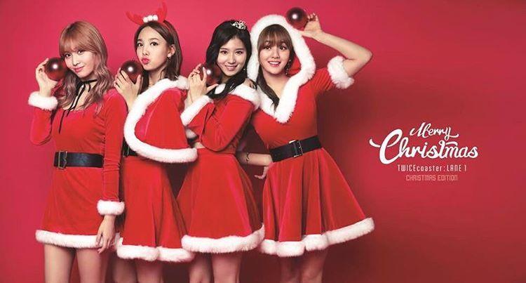 TWICECOASTER CHRISTMAS VERSION!! #twice #twicecoaster #tt