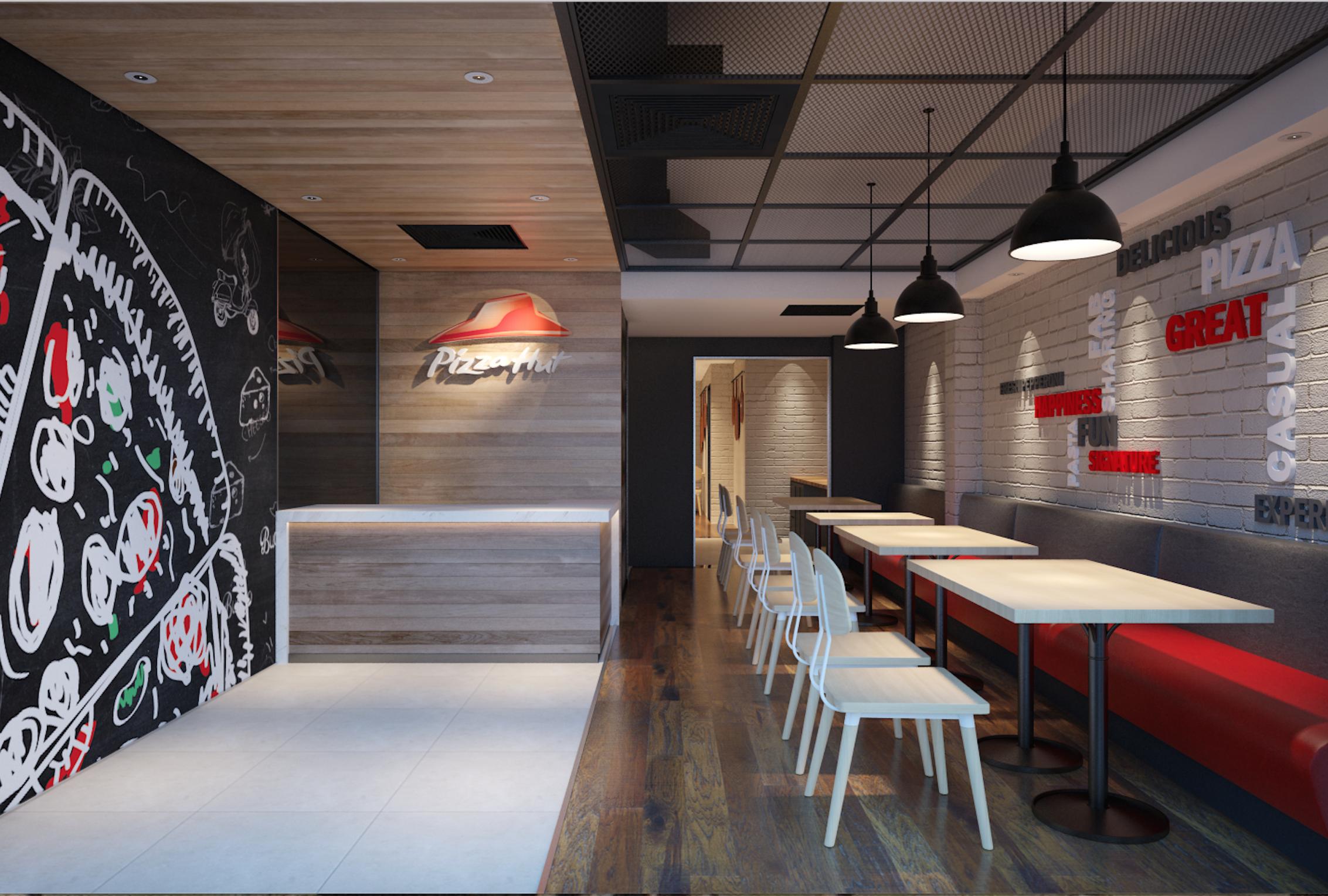 Pizza Hut 3d Design With Images Design Interior Interior Design