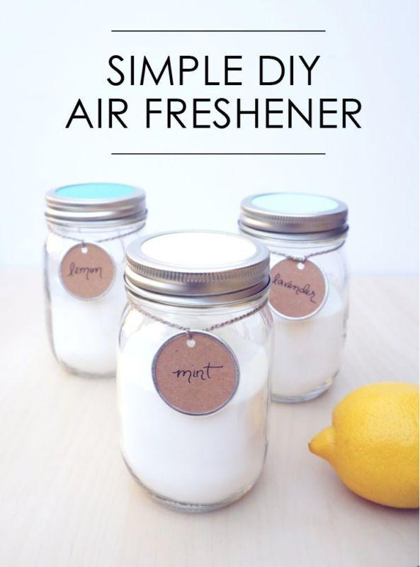 Aromatizador de ambientes caseiro, feito com bicarbonato de sódio e óleo essencial. #airfreshener #diy