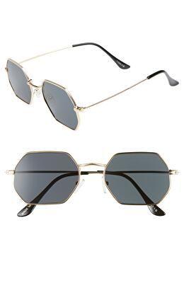 4c4e5e248568 BP. Designer 52mm Geo Sunglasses
