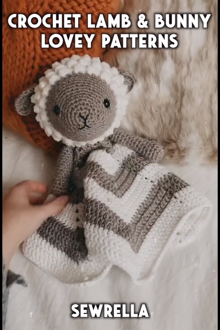 Photo of Crochet Lamb & Bunny Loveys – free patterns