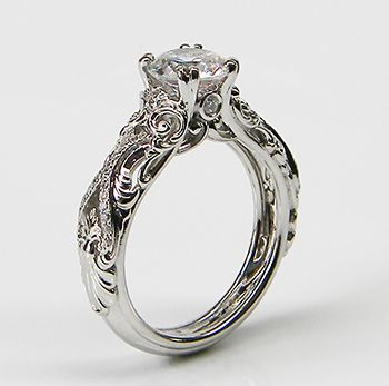 Renaissance Bridal Engagement Ring Collection G And 4