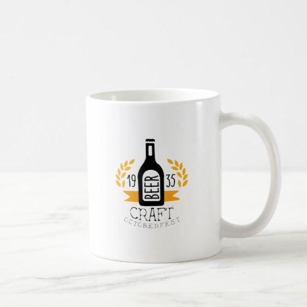 Craft Beer Oktoberfest Logo Design Template Coffee Mug Logo - office supply template