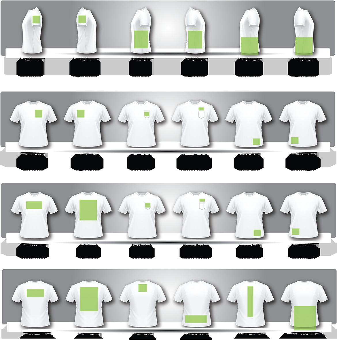 Size Of T Shirt Design Google Search: Screen Print Size Chart - Google Search