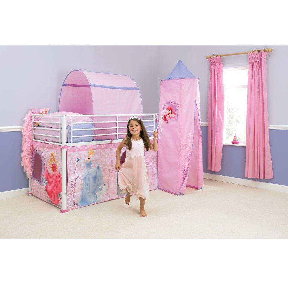 Disney Princess Mid Sleeper Cabin Bed Tent New Boxed | eBay  sc 1 st  Pinterest & Disney Princess Mid Sleeper Cabin Bed Tent New Boxed | eBay ...
