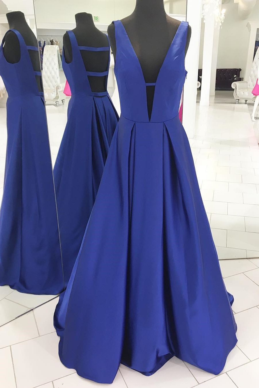 Gorgeous Royal Blue Long Prom Dress Evening Dress | 2018 Prom Dress ...