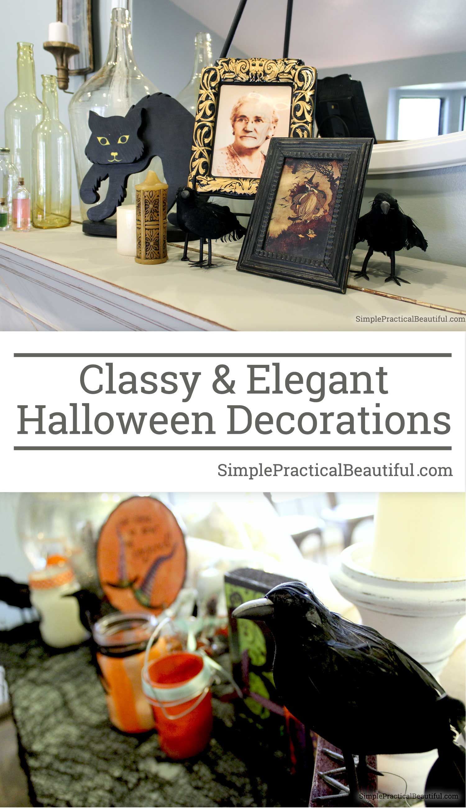 Classy And Tasteful Halloween Decor Halloween Decorations Elegant Halloween Decor Decor