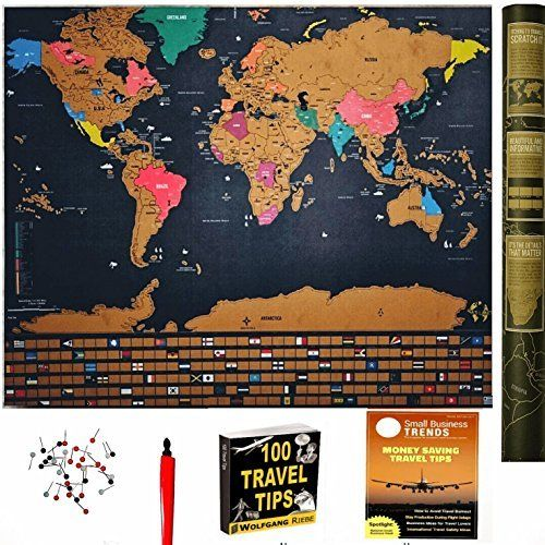 Amazon scratch off world map poster with us states and amazon scratch off world map poster with us states and country flags gumiabroncs Images