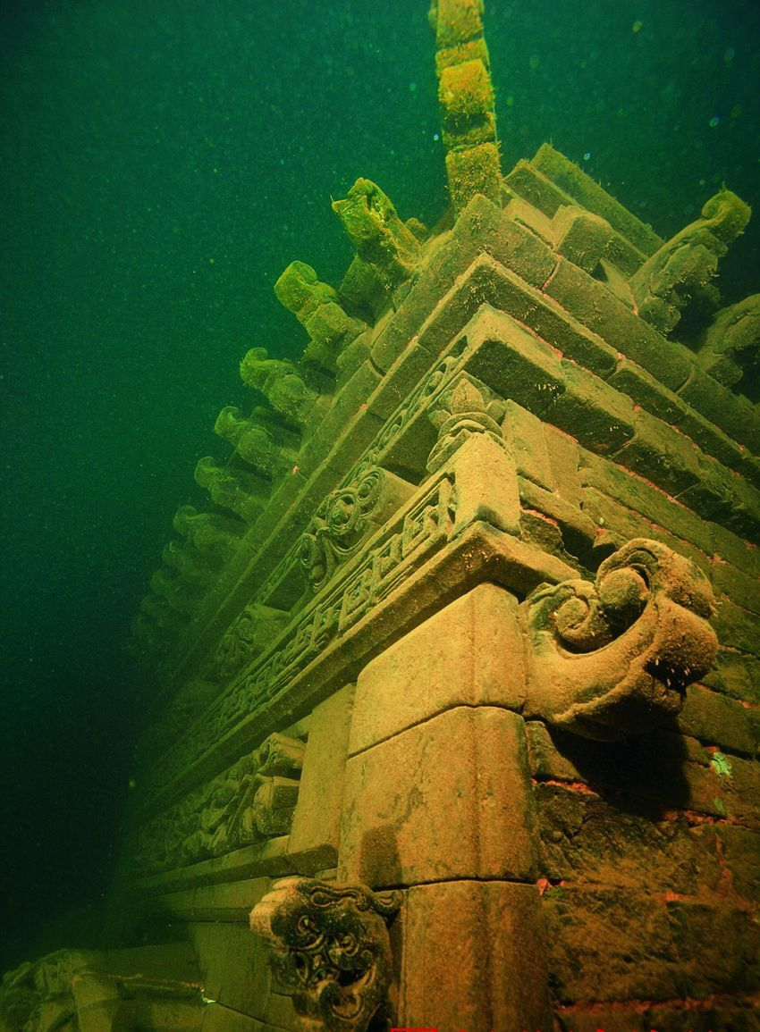 Underwater City China Google Search Underwater City Underwater Ruins Abandoned Places