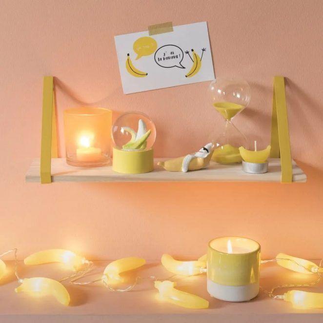 Soldes Décoration Maisons du Monde : Sélection Maxi 10€ #bouleaneigemaison Soldes décoration Maisons du Monde : une boule à neige banane #bouleaneigemaison