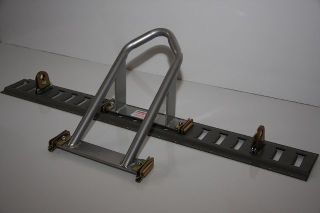 Motorcycle Wheel Chock System For E Track Motorcycle Wheels