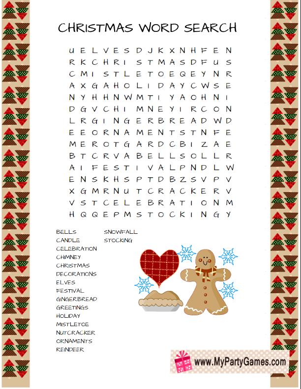 image regarding Free Printable Christmas Word Games identified as Pin upon Xmas