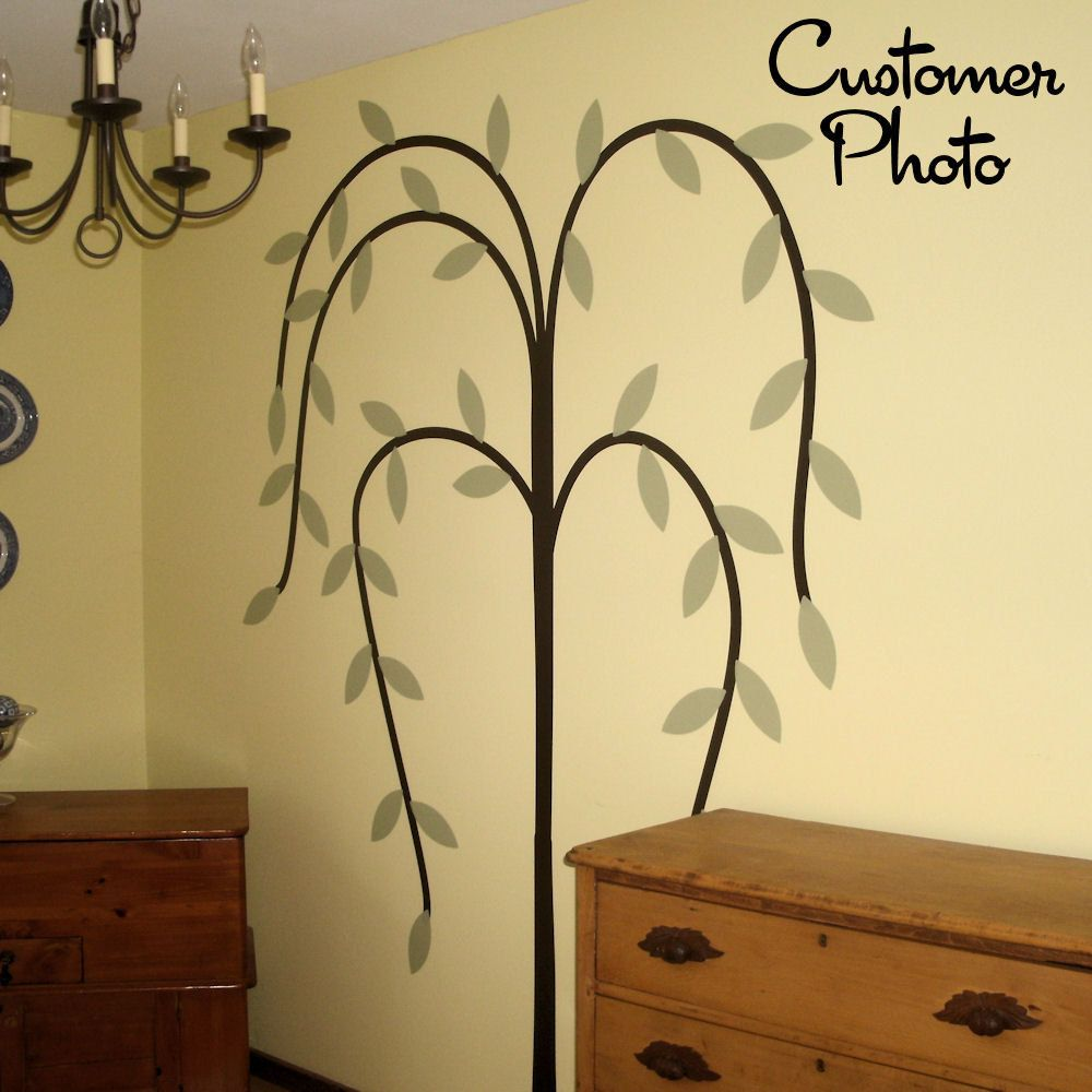 Primitive Willow Tree Wall Decal Country Home Decor. $64.95, via ...