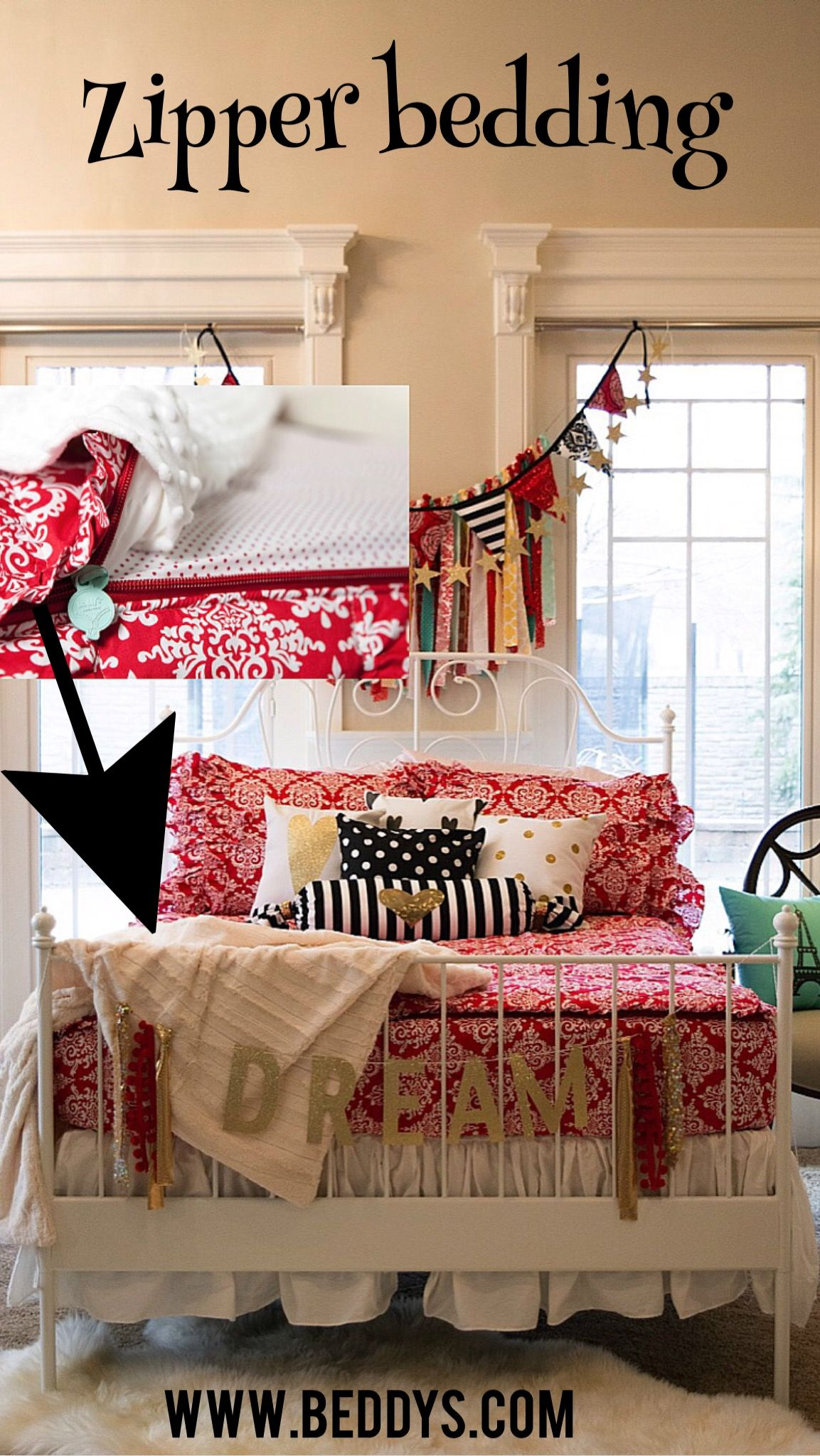 The only way to keep your bed looking this neat. Zipper