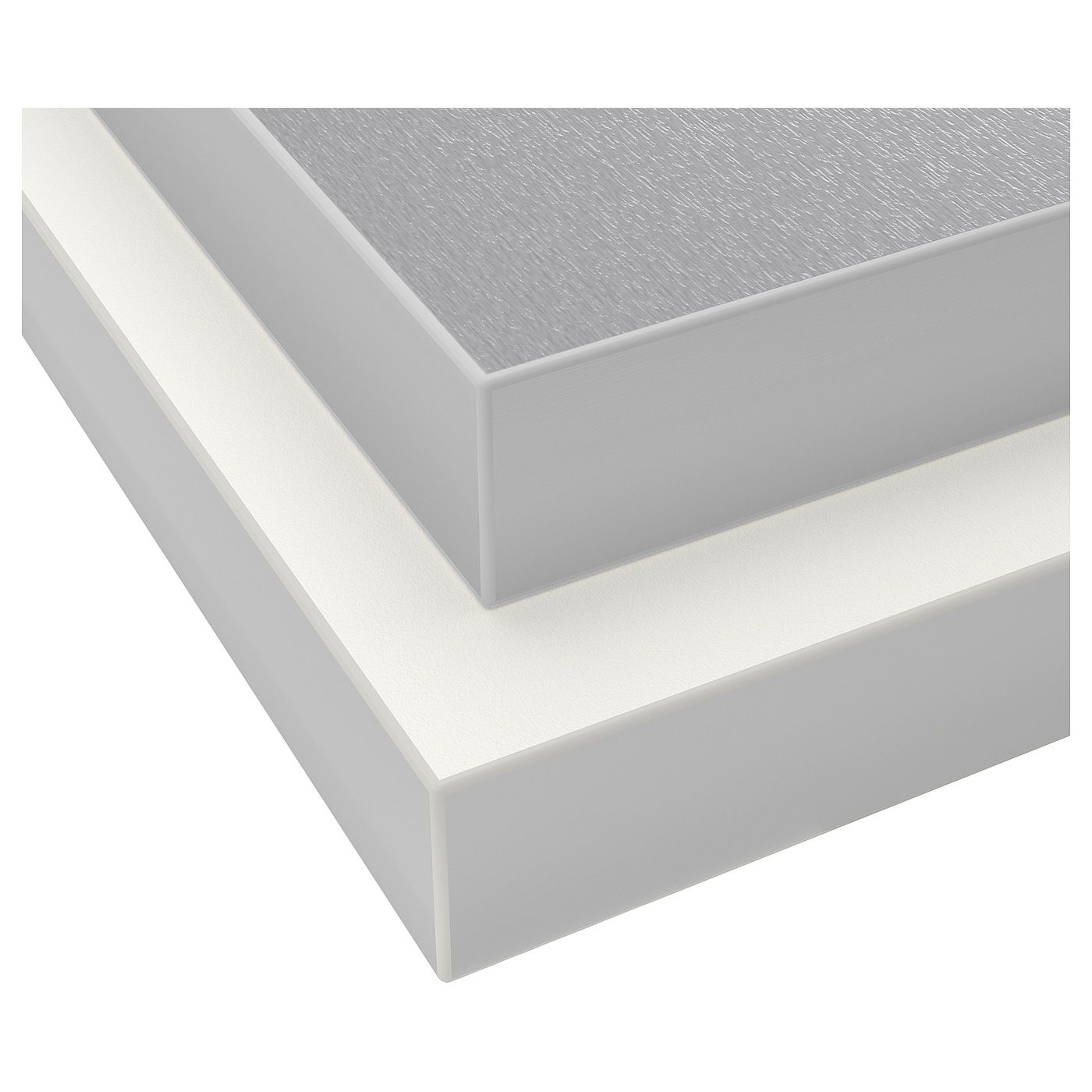Hallestad Arbeitsplatte Doppels Weiss Aluminiumfarben Laminate Countertops Countertops Ikea