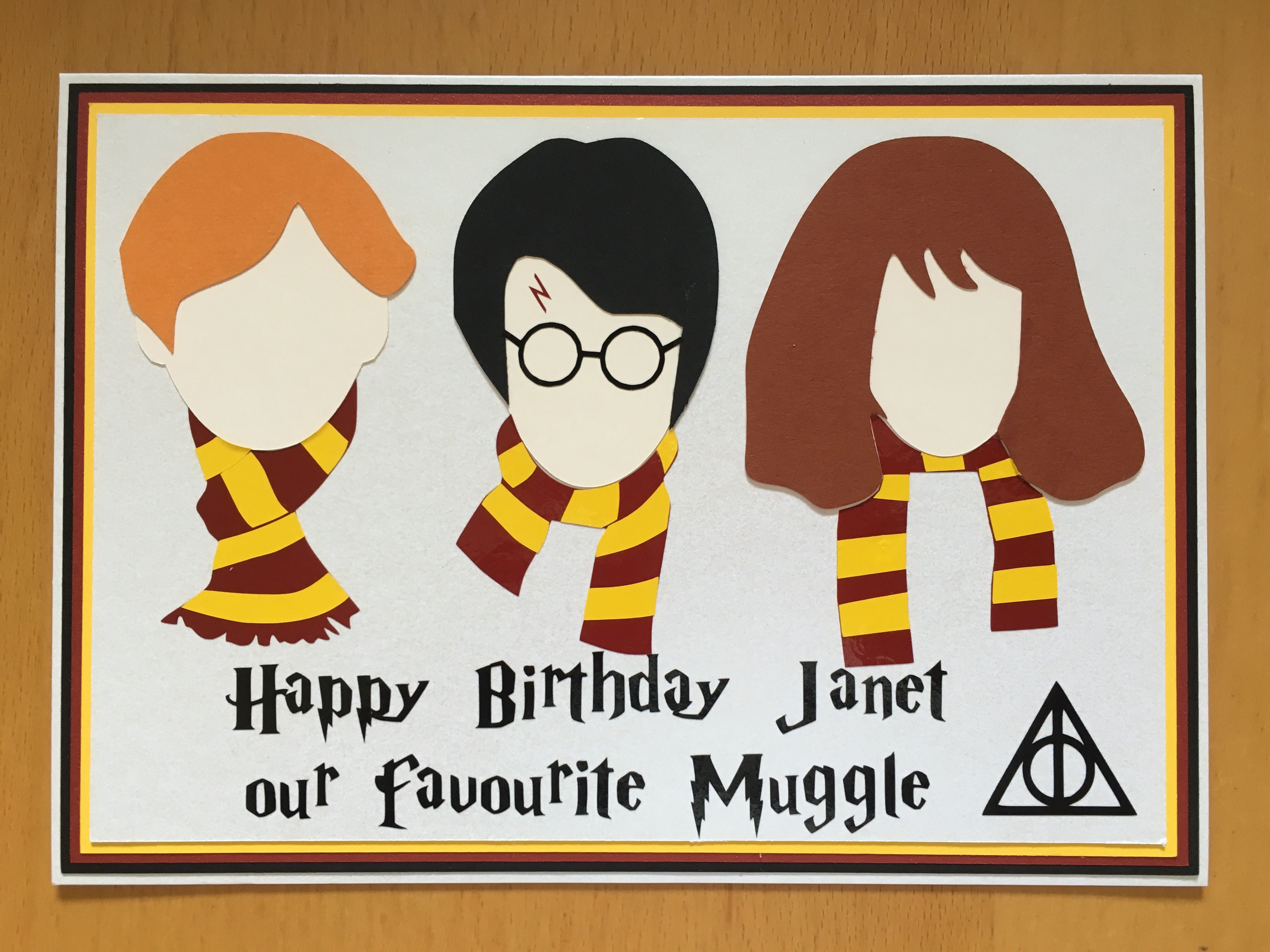 A Harry Potter Themed Birthday Card Made For Friend Who Is Big Fan All Cuts Using Silhouette Cameo
