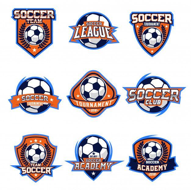Logo Vector De Futbol Conjunto Diseno De Insignia Grafico Vectorial Vector