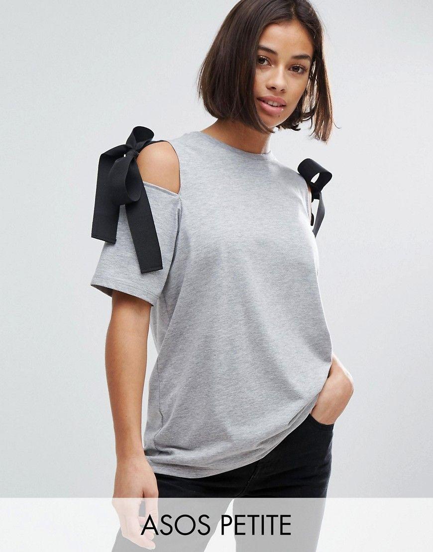 Compra Top hombros descubiertos de mujer color gris de Asos petite al mejor  precio. Compara precios de tops de tiendas online como Asos - Wossel España