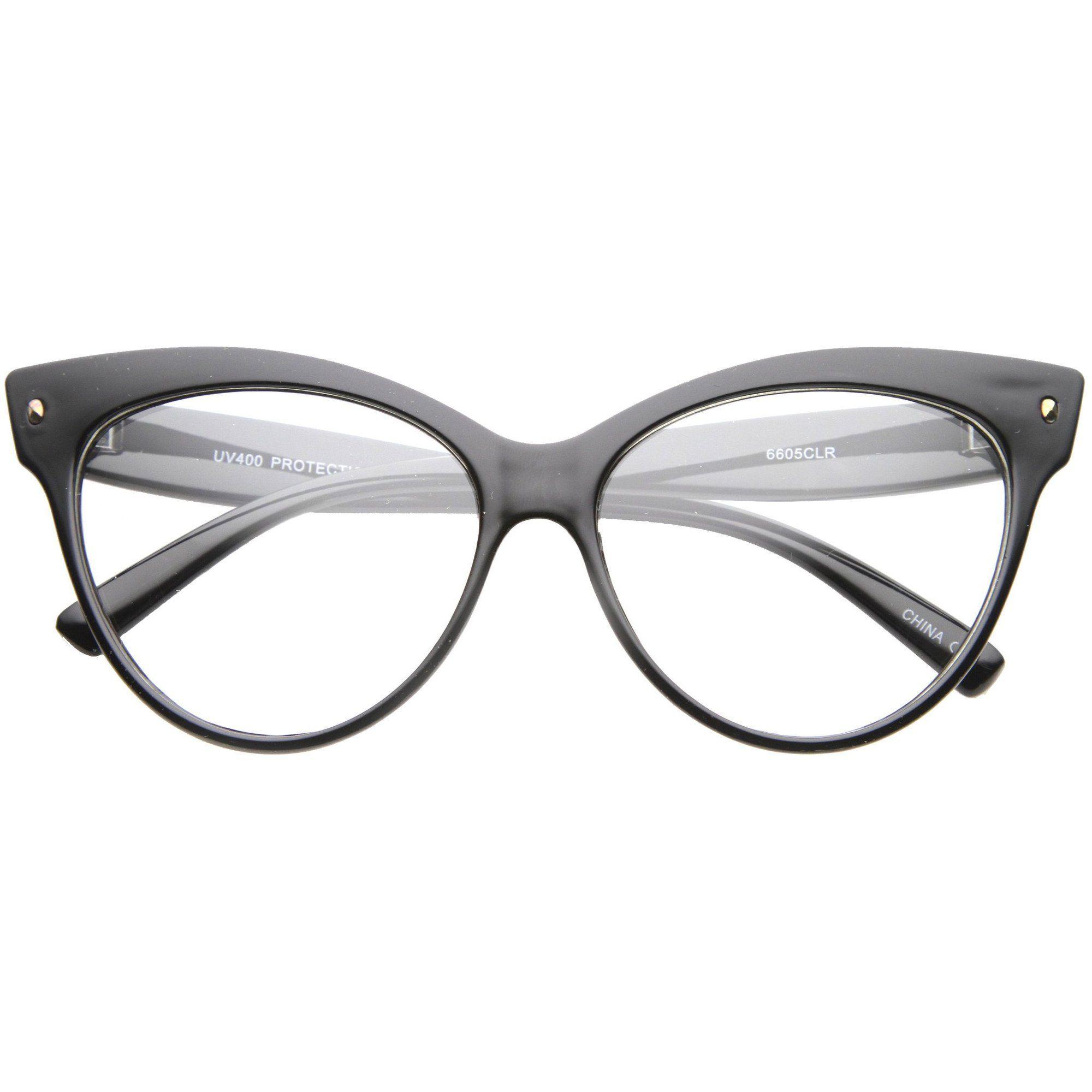 Women's Retro 1950's Cat Eye Clear Lens Glasses A099