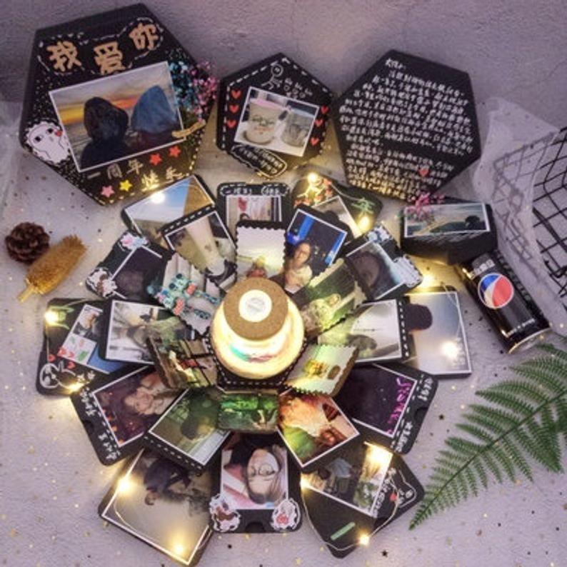 Ebgchristmas gift explosion box 1 year dating anniversary