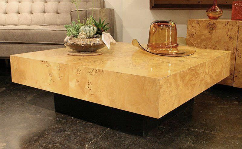 Milo Baughman Olive Wood Coffee Table And End Table Vintage