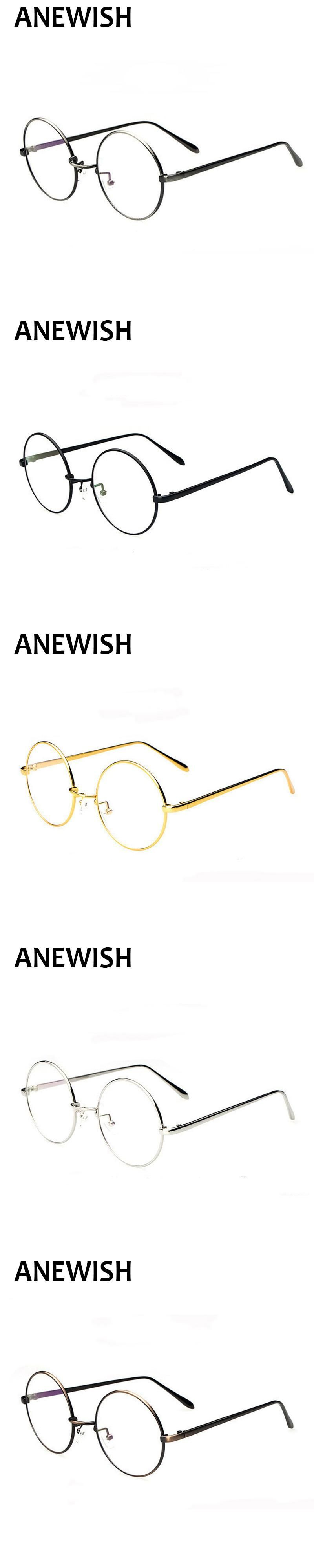 72aca140947 Eyewear Women Men Fashion Ultra Light Brand Designer Big Round Metal  Glasses Frame Retro Oculos De