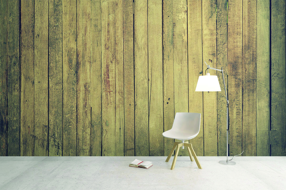 Driftwood wallpaper adds a aged wood look to your space ...