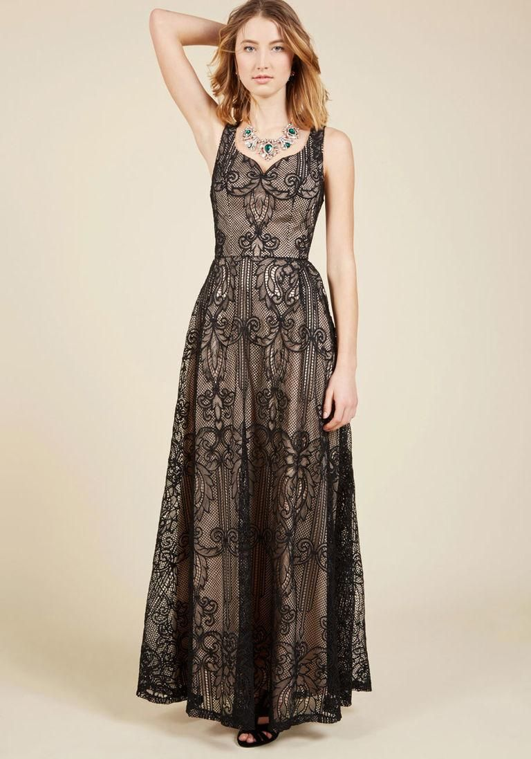 #ModCloth - #ModCloth Faith in Flawlessness Maxi Dress in Noir in S - AdoreWe.com