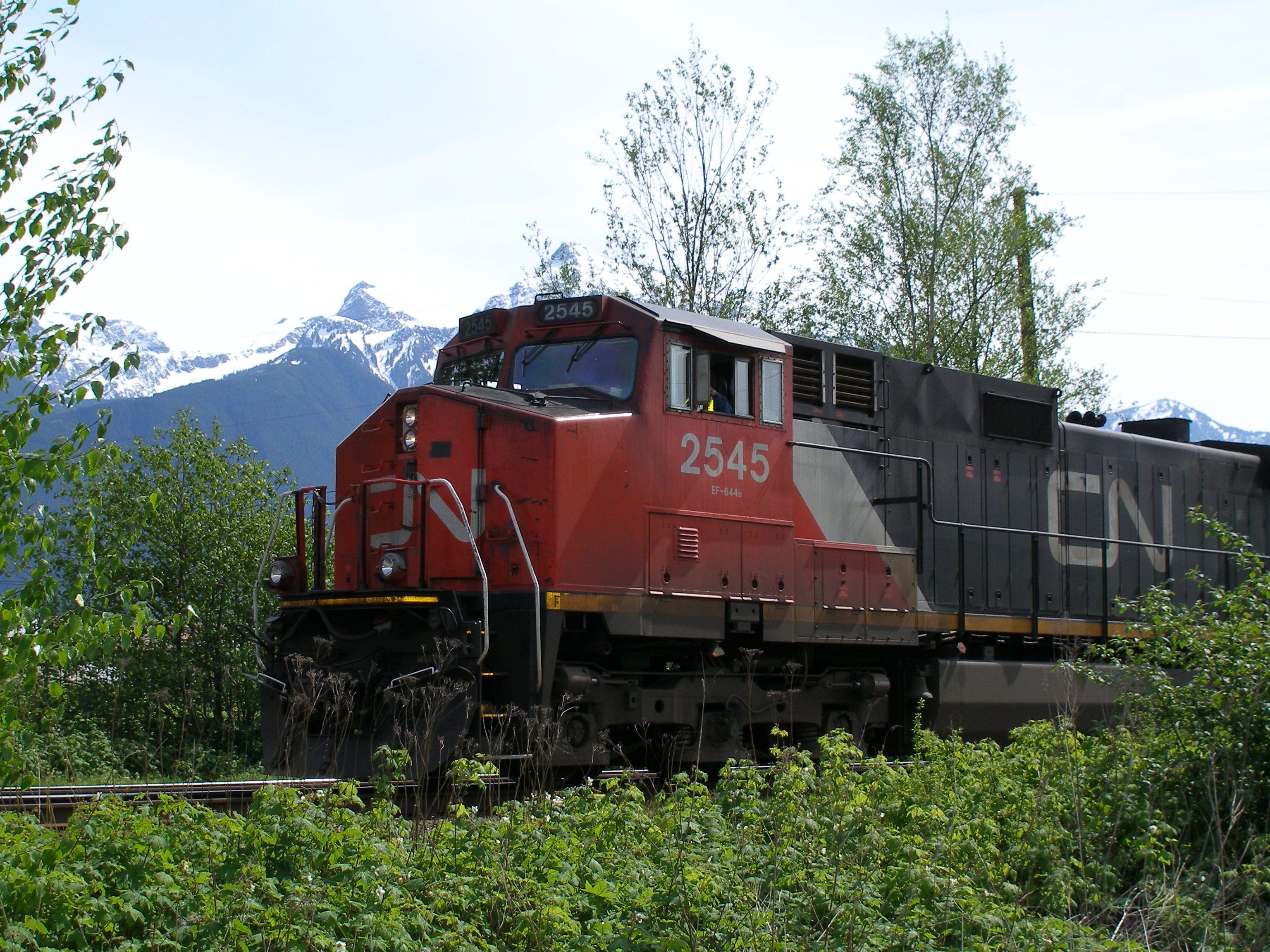 .. 2545 Canadian national railway, Train, Caboose