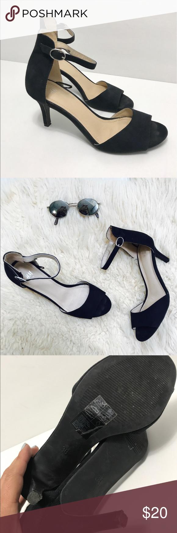 H M Black Heel Shoes 7 Black Shoes Heels Heels H M Shoes