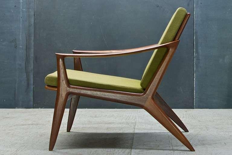 Beautiful Rare Per Oie Scandinavian Mid Century Modern Easy Arm Lounge Chair