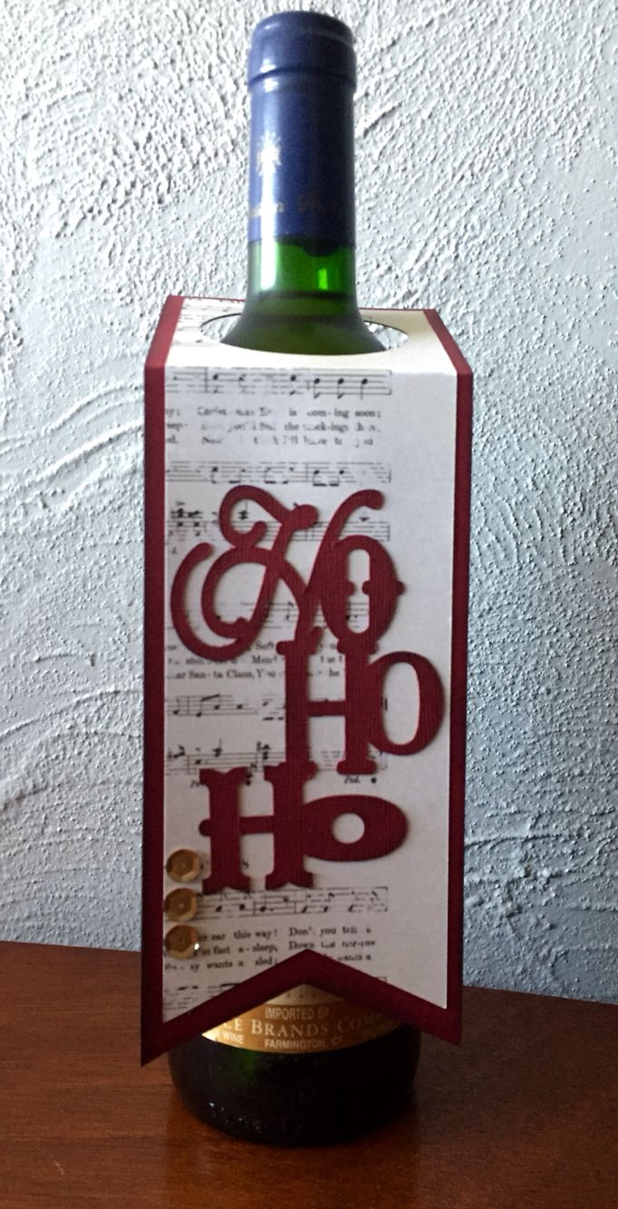 Wine bottle tag made with cricut explore and CTMH artiste | TAGS ...
