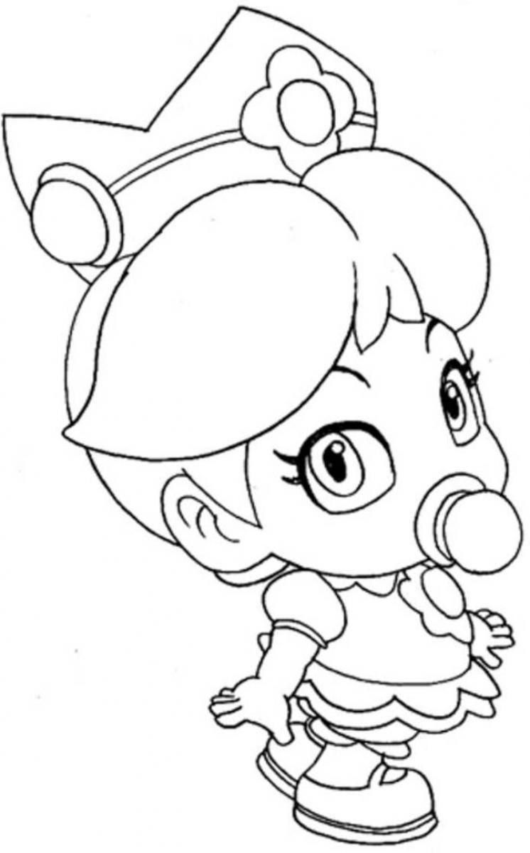 COLORING 》Baby Princess Peach | Kid stuff | Pinterest