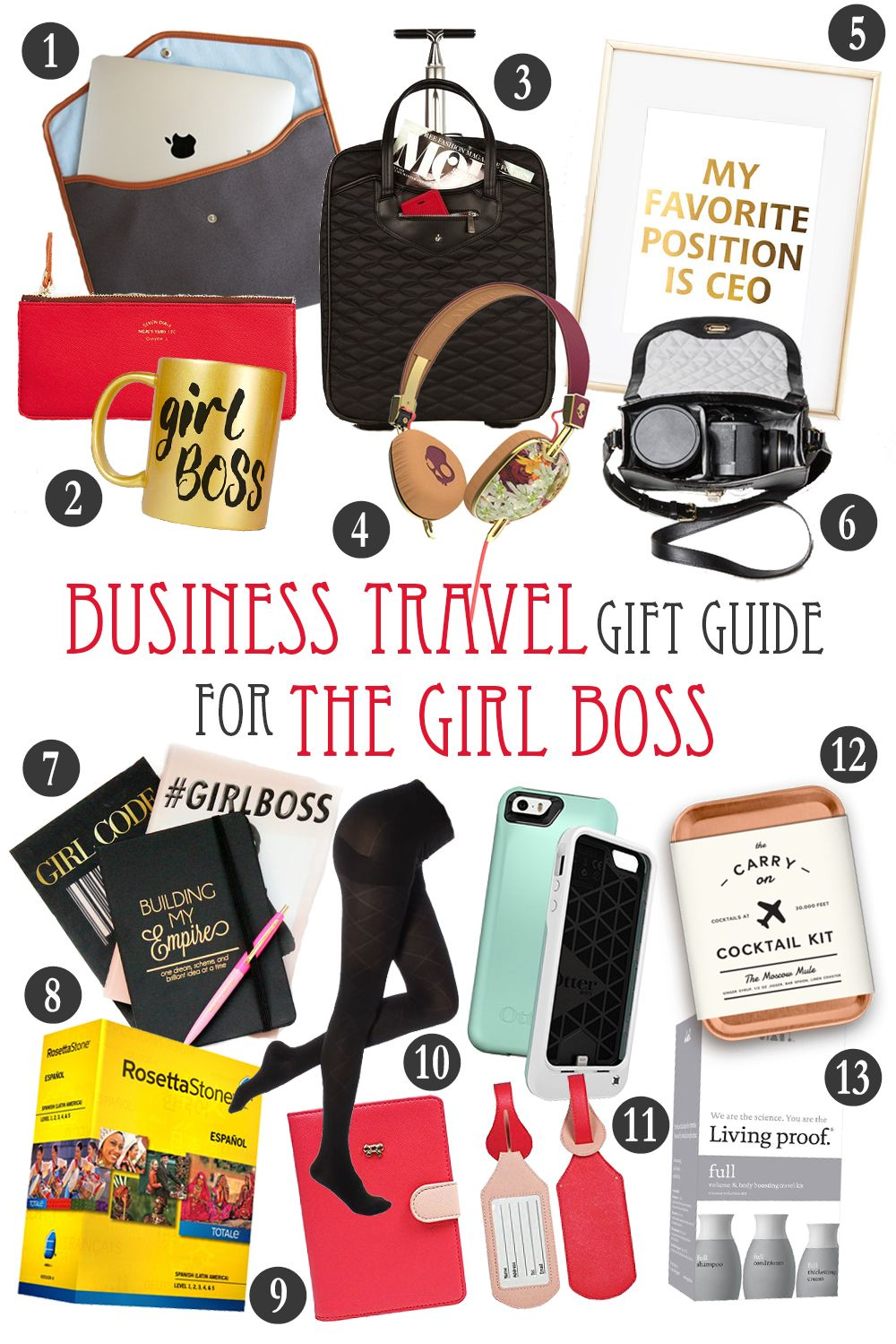 Business Travel Gift Guide For The Girl Boss The Blonde Abroad Gift Guide Travel Business Travel Business Travel Outfits