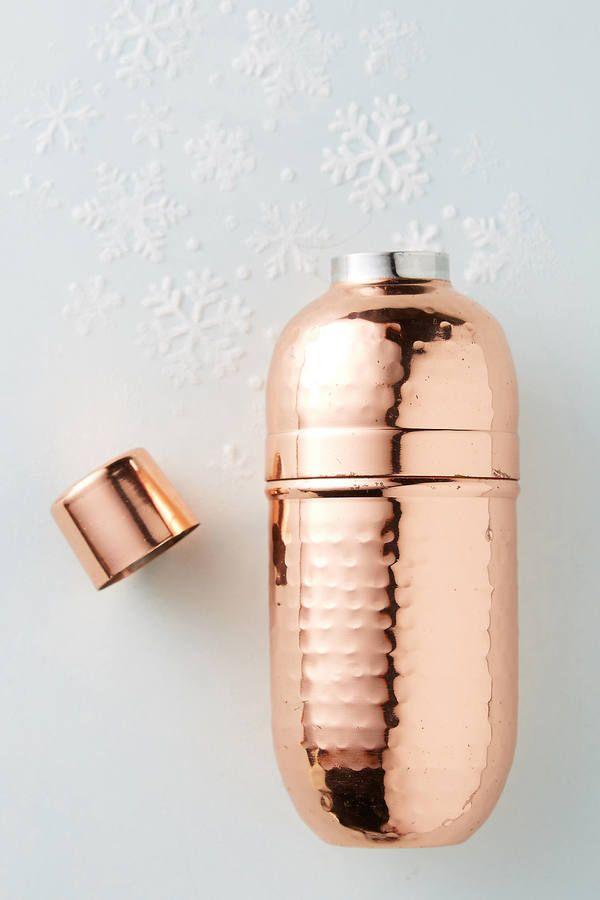 Anthropologie Hammered Mini Cocktail Shaker   home goods