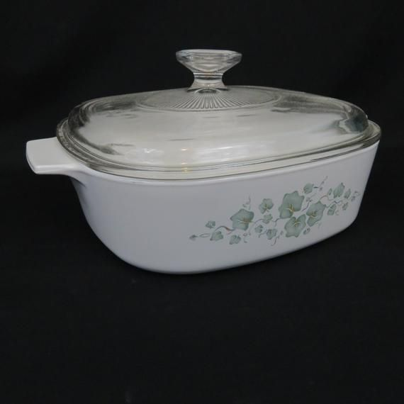 Corning Ware Callaway 2 Quart Square Casserole with Lid - A-2-B Ivy Baking Dish #dishware