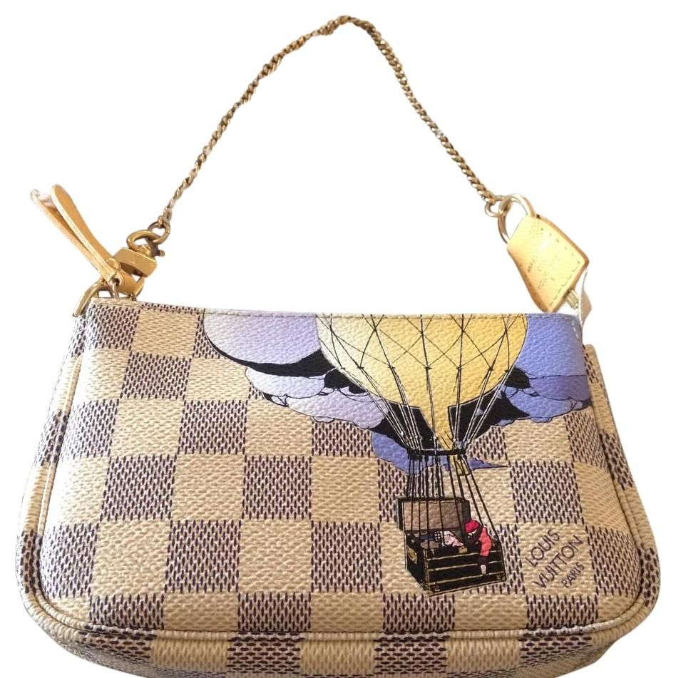 8bc151c5e Louis Vuitton Mini Pochette - Limited Edition Trunks / Air Balloons Design  W/box Tags And Dust Damier Azur Wristlet. Get the trendiest Clutch of the  season!