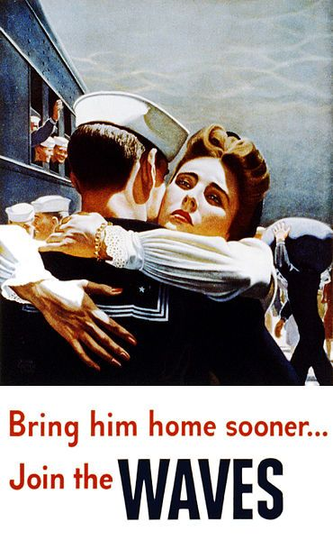 This picture caught my attention because of the implication that the navy would bring husbands back sooner