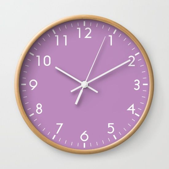 Violet Wall Clock Red Wall Clock Wall Clock Clock