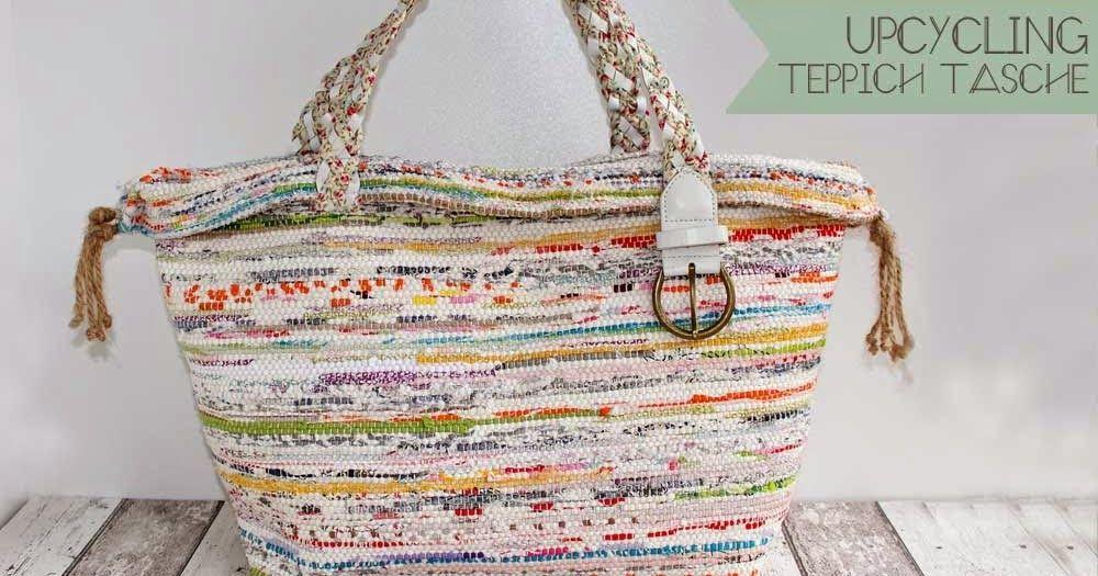 DIY selber machen Tasche Strand nähen Stoff Webstoff Teppich, Ikea ...