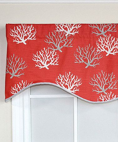 Love This Coral Sea Flora Cornice Valance Panel On Zulily