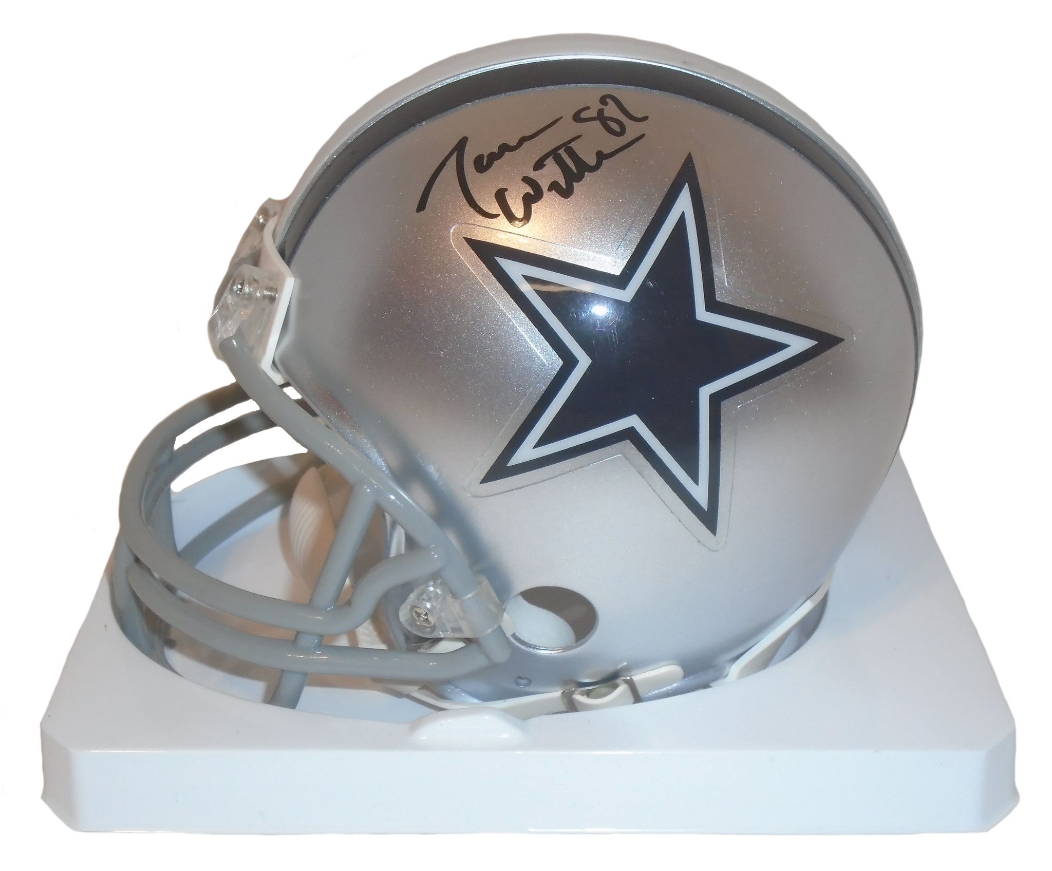 save off ef95b 52bf4 Jason Witten Autographed Dallas Cowboys Riddell Mini ...