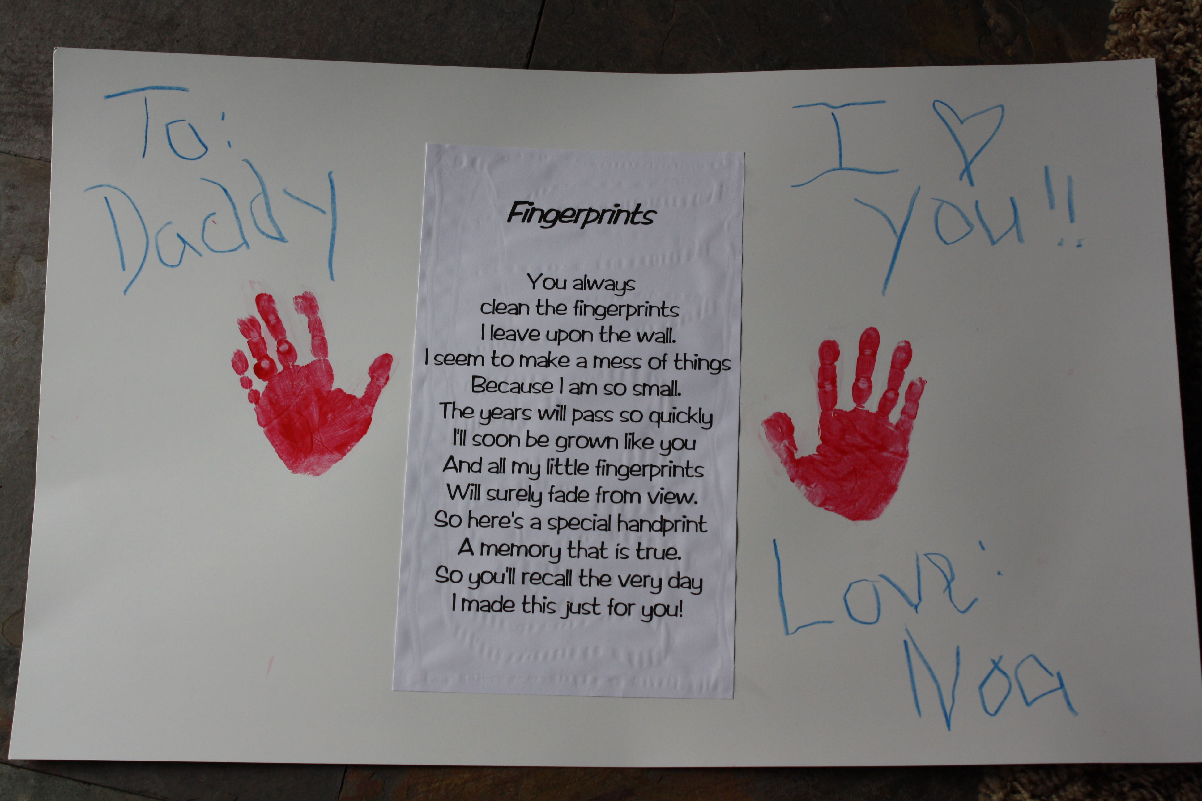 noas valentine to daddy i saw this cute poem on nanascornercom and thought