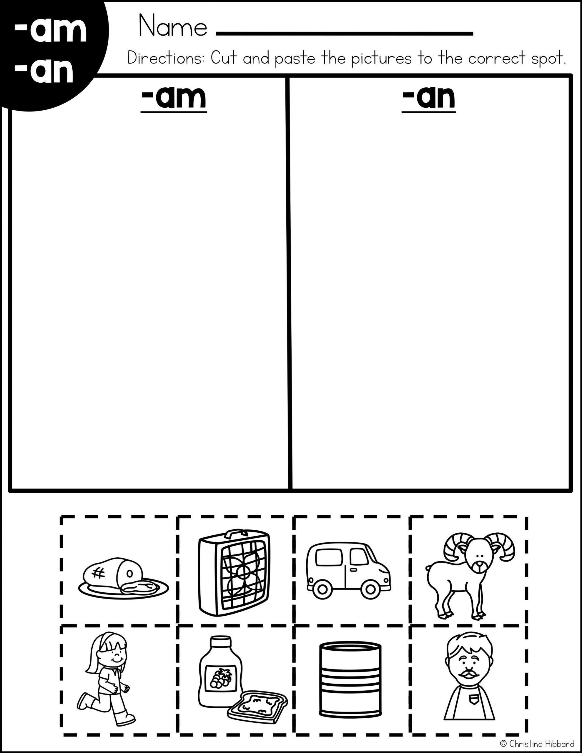 Word Family Worksheet Kindergarten Pin On Plug Into