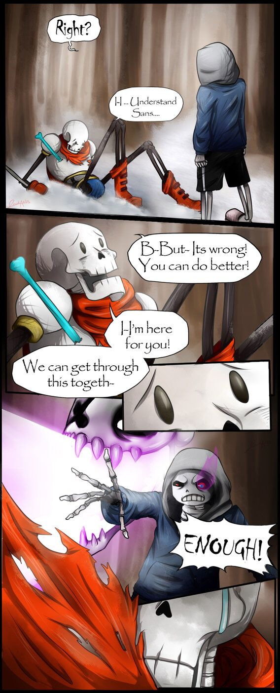 dusttale page 4. Man this AU really hits me in the feels. Eseacally when Paps is my favorite character.